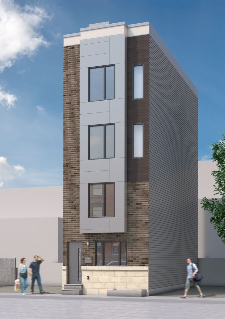 a proposed four-story duplex for the Francisville section of Philadelphia